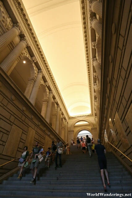 Going to the Byzantine Gallery at the Metropolitan Museum of Art in New York