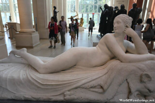 A Statue at the Metropolitan Museum of Art in New York