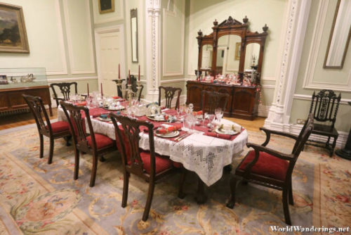 Elegant Dining Room at Kylemore Abbey