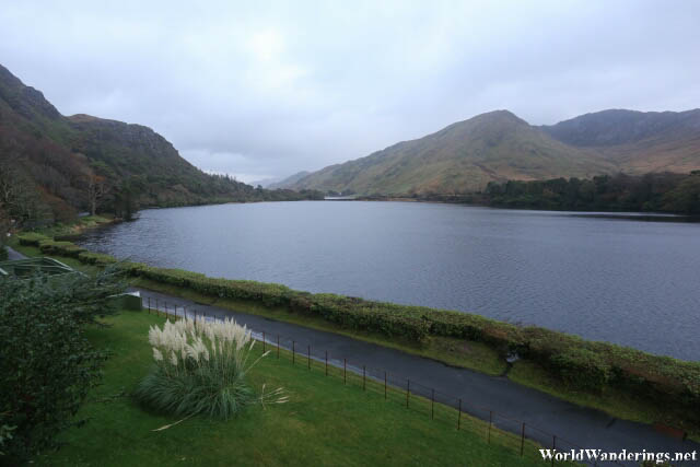 Walking Along the Lake Shore at Kylemore Abbey