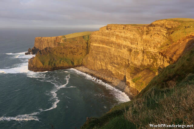 Sun Illuminating the Cliffs of Moher