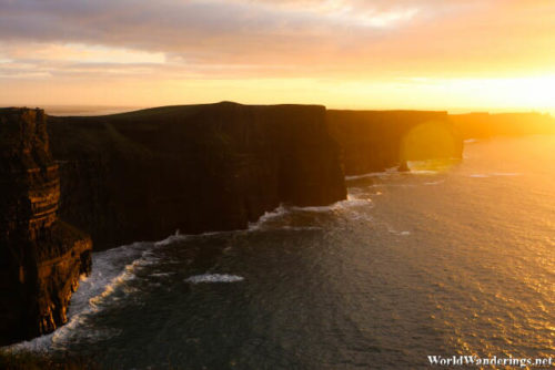 Cliffs of Moher at Sunset