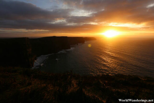 Golden Sunset at the Cliffs of Moher