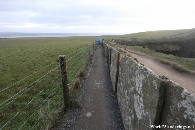 Muddy Path on the Left of the Cliffs of Moher