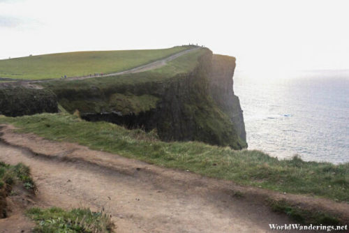 Walking Along the Cliff Side of the Cliffs of Moher