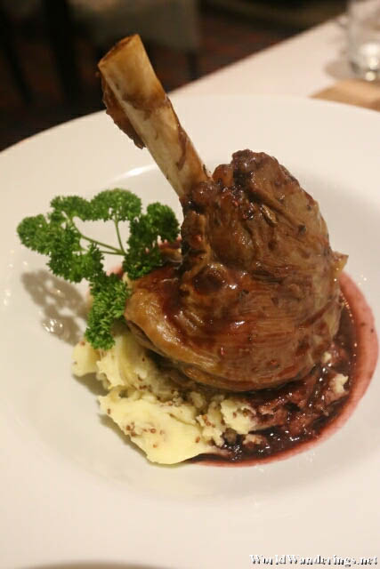Lamb Shank at the Market House Restaurant in Donegal Town