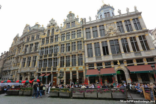 Guildhalls at La Grand-Place in Brussels