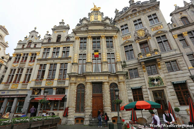Beautiful Guildhalls at La Grand-Place in Brussels
