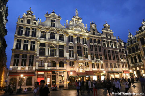 Guildhalls at La Grand-Place at Night