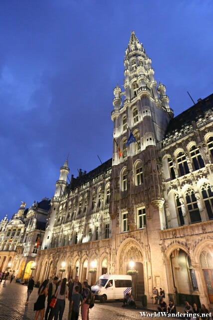 Town Hall of La Grand-Place in Brussels