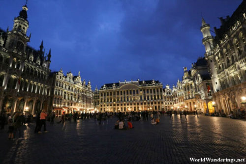 Night Time at La Grand-Place in Brussels