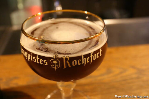A Goblet of Trappistes Rochefort 8