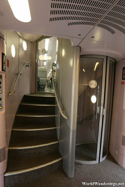 Inside the Train to Bruges