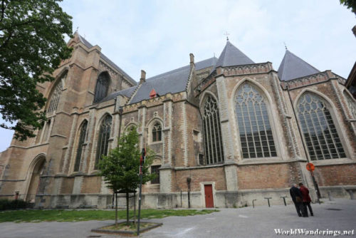 Behind the Sint-Salvator Cathedral
