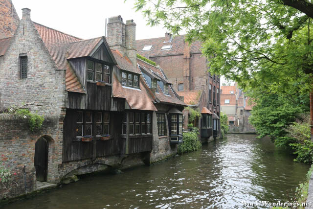 House by the Canal in Bruges Historic Town