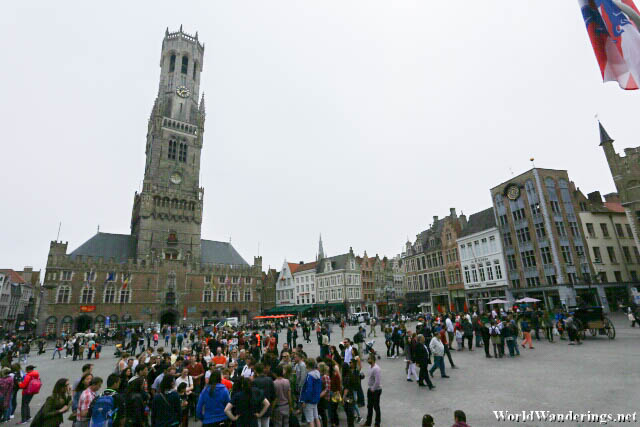 Belfry of Bruges at Market Square