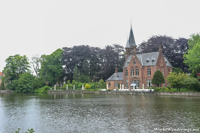 Beautiful House Along the Minnewater in Bruges