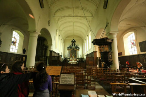 Inside the Church in the Beguinage in Bruges