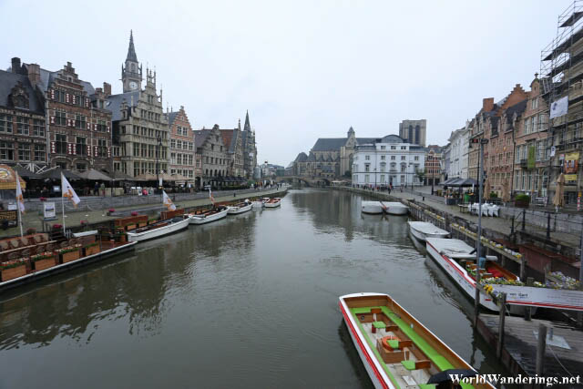 River from the River Leie in Ghent