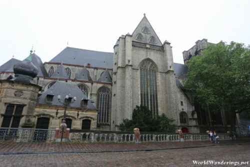 Side of Saint Michael's Church in Ghent