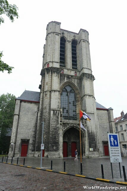 Main Entrance of Saint Michael's Church in Ghent