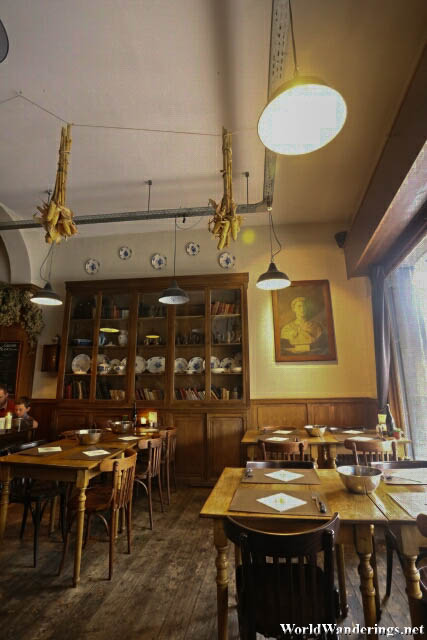 Inside Sparerib Cafe in Ghent