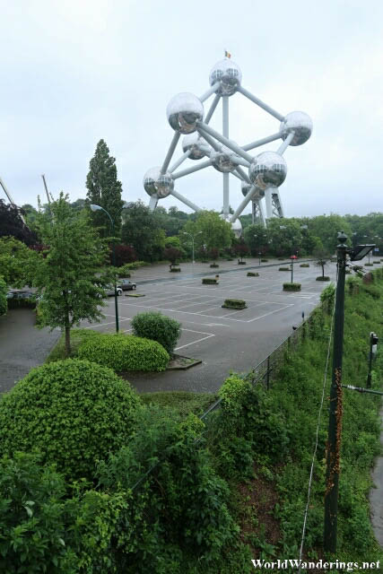 View of the Atomium in Brussels