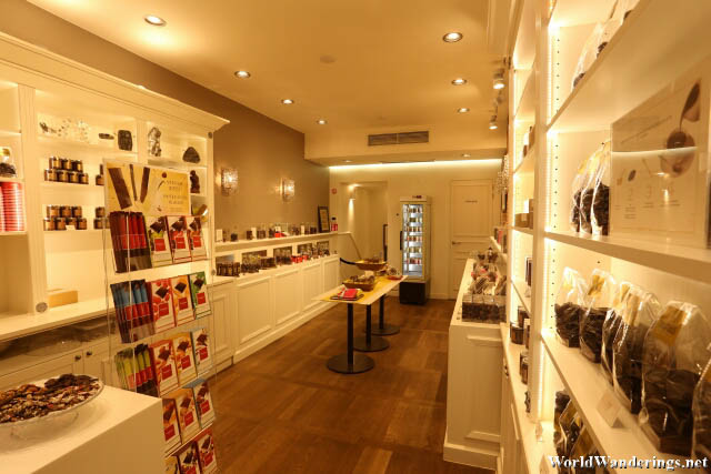 Inside Neuhaus Chocolate Shop