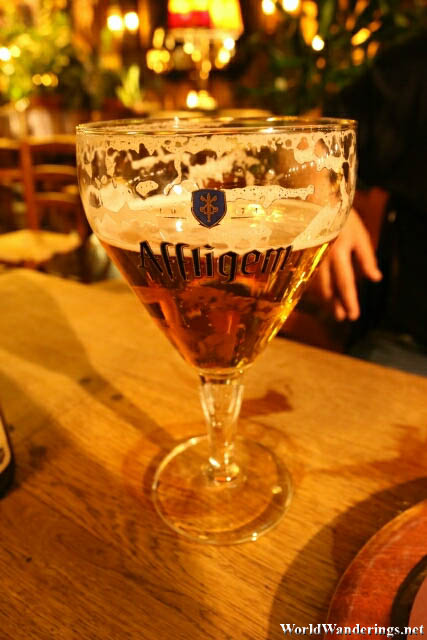 Affligem Beer in La Chaloupe d'Or in Brussels