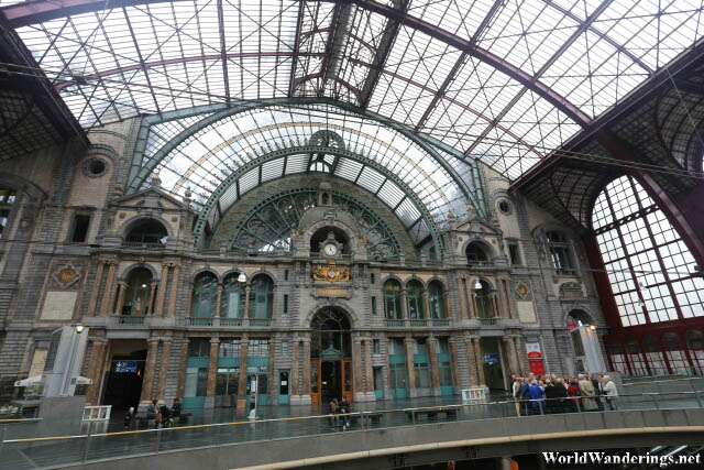 Beautiful Interior of the Antwerp Railway Station