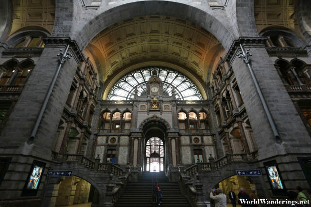Cavernous Antwerp Railway Station