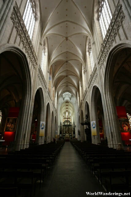 Inside the Cathedral of Our Lady in Antwerp