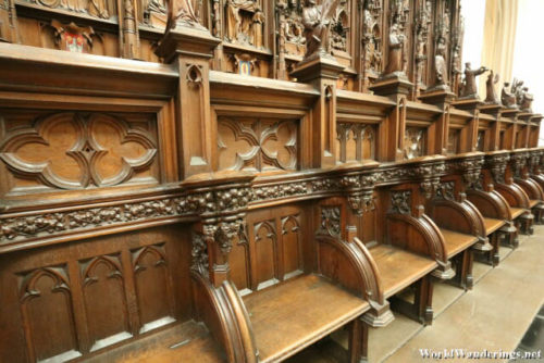 Choir Seats at the Cathedral of Our Lady in Antwerp