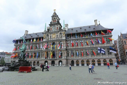 Antwerp City Hall at the Grote Markt