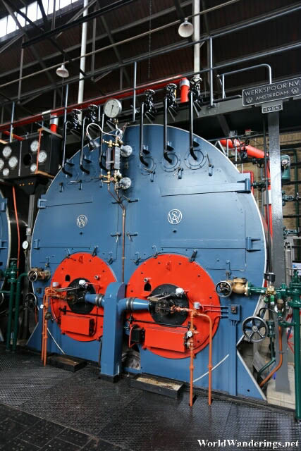 One of the Massive Boilers at Ir.D.F. Woudagemaal