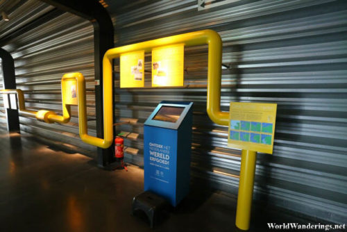 Interactive Displays at the Ir.D.F. Woudagemaal Visitor Center