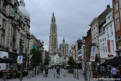 Street View of Antwerp Old Town