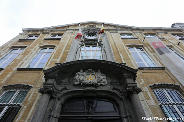 Entrance of the Platin-Moretus Museum in Antwerp
