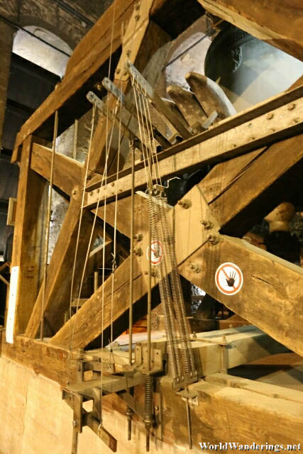 Mechanism which Pulls on the Bells at the Belfry of Ghent