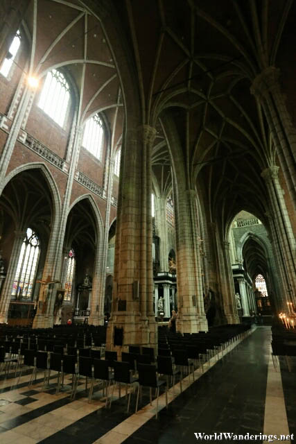 Inside Saint Bavo's Cathedral in Ghent