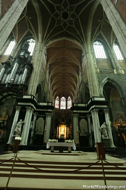 Inside the Saint Bavo's Cathedral