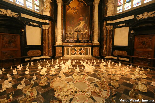 Inside a Chapel of Saint Bavo's Cathedral in Ghent