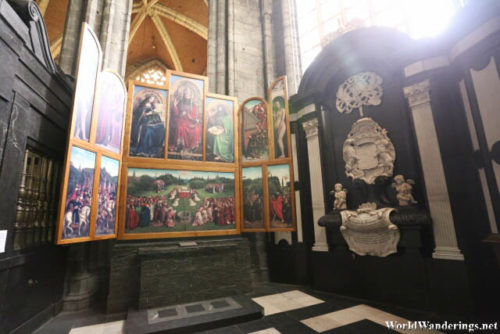 Chapel Inside Saint Bavo's Cathedral in Ghent