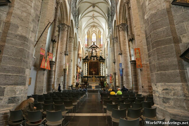 Inside the Saint Nicholas Church in Ghent