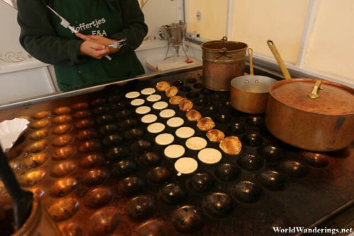 Preparing the Poffertjes in Ghent