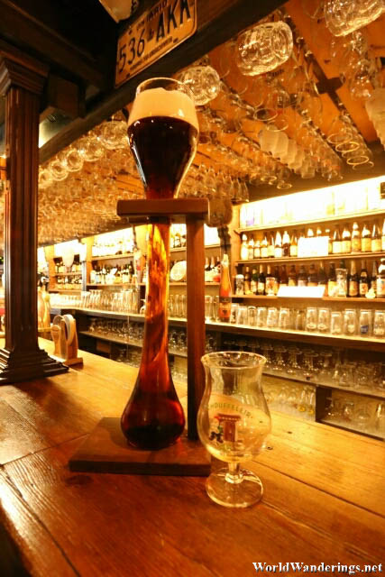 Kwak Max at the Dulle Griet in Ghent
