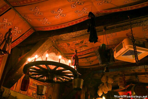 Shoe Collateral High Above the Dulle Griet Ceiling