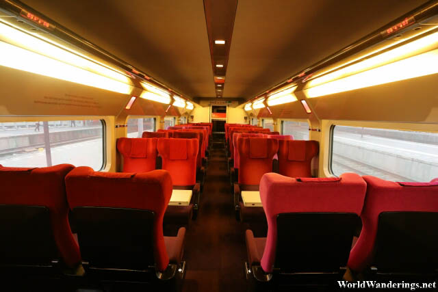 Inside the Thalys High Speed Train Service to Amsterdam