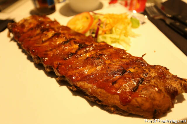 Ribs at At James Restaurant in Amsterdam