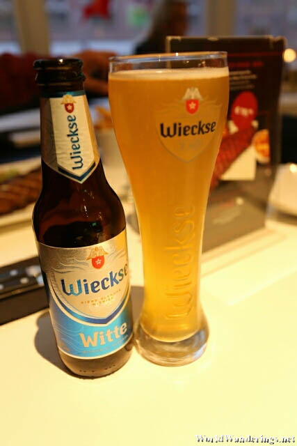 Wieckse Beer at At James Restaurant in Amsterdam